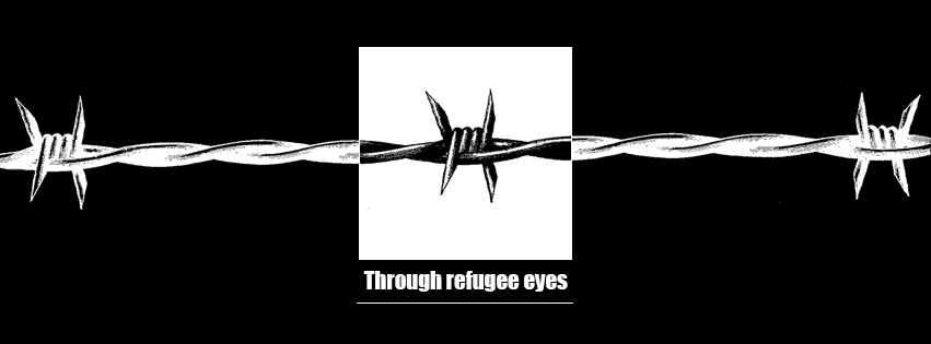 through refugee eyes, barbed wire