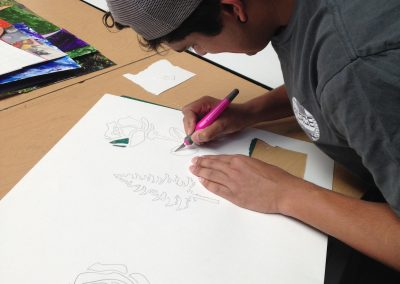 Thrive students drawing
