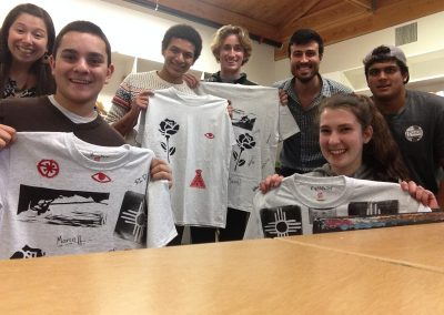 Thrive students show off their new printed t-shirts